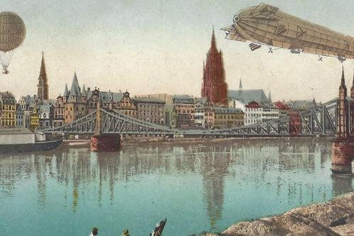 Germany. Vintage Zeppelin card