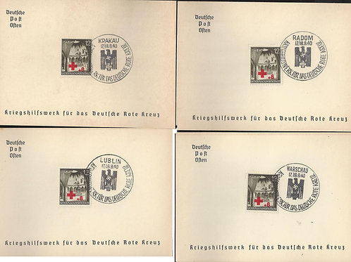 Poland: German Occupation(Generalgouvernement)1940 War Relief Organization cards