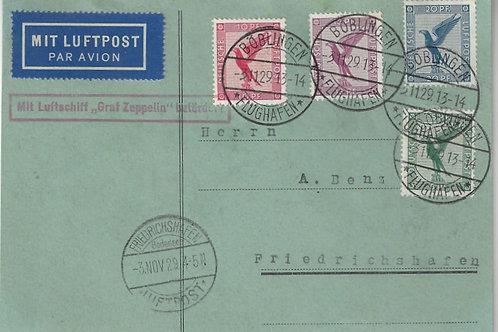1929 Graf Zeppelin Flight, Boblingen to Friedrichshafen