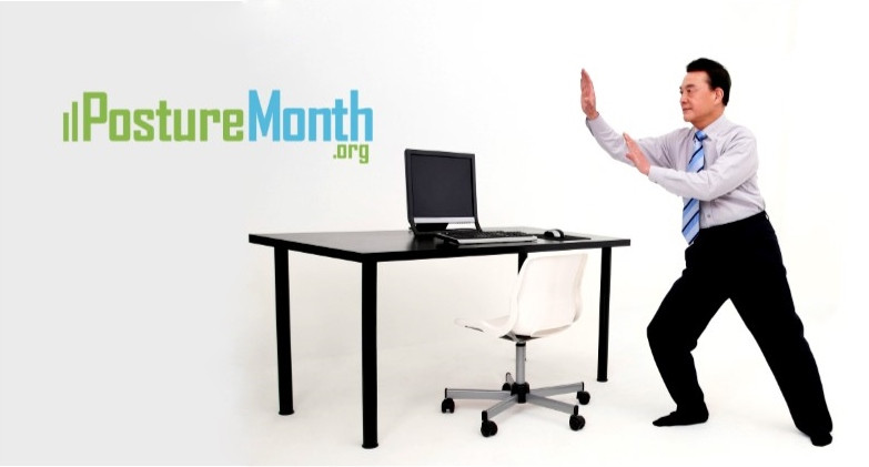 Posture exercise at work