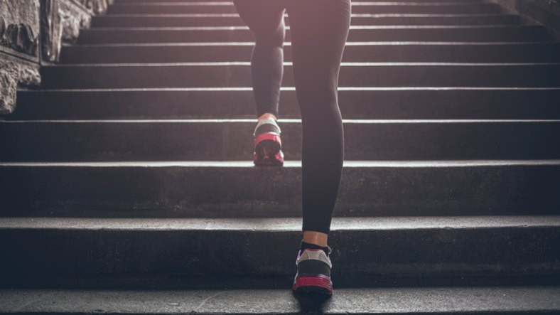 A quick 20-second stair sprint has health and fitness benefits