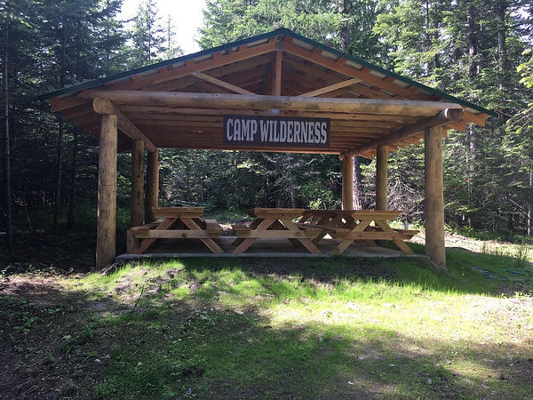 Camp Wilderness finished pavilion with s