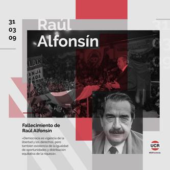 Aniversario del fallecimiento de Raúl Alfonsín