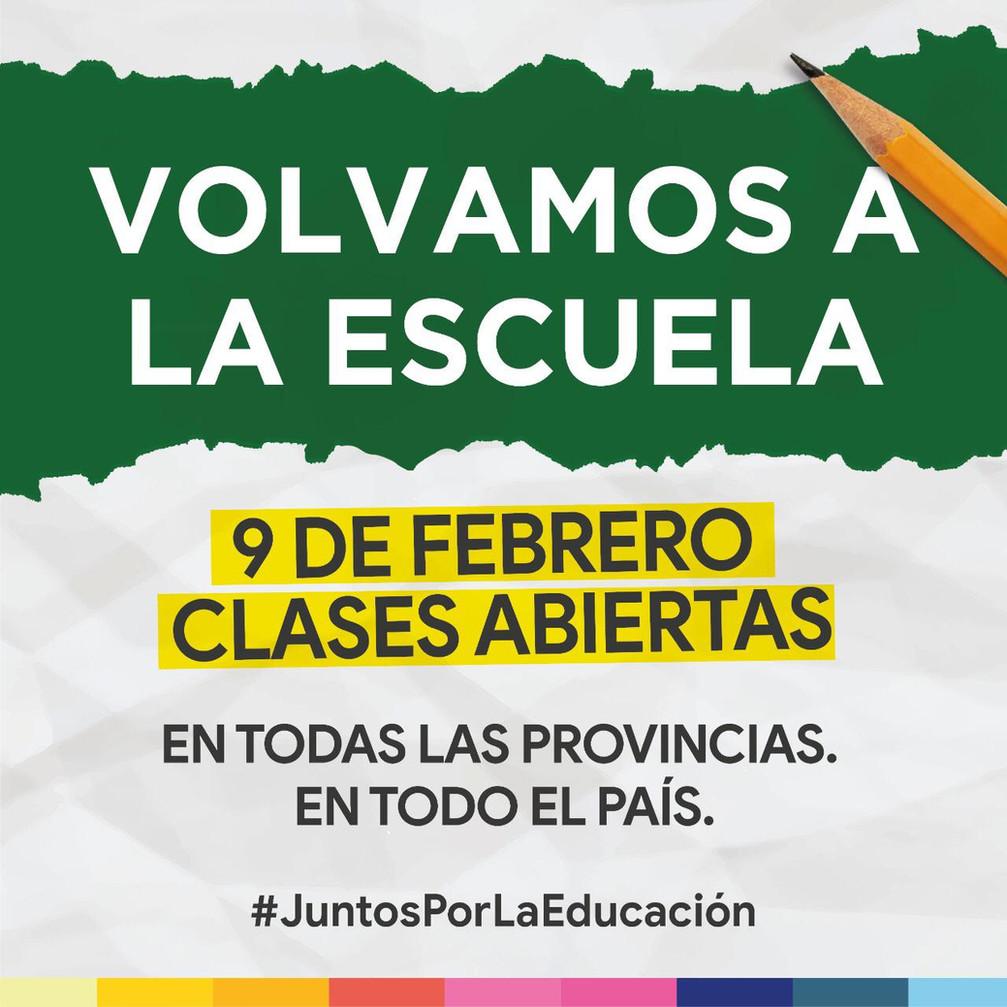 El #9F todos #VolvamosALaEscuela en la Provincia de Buenos Aires