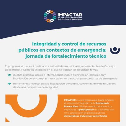 Integridad y control de recursos públicos en contextos de emergencia