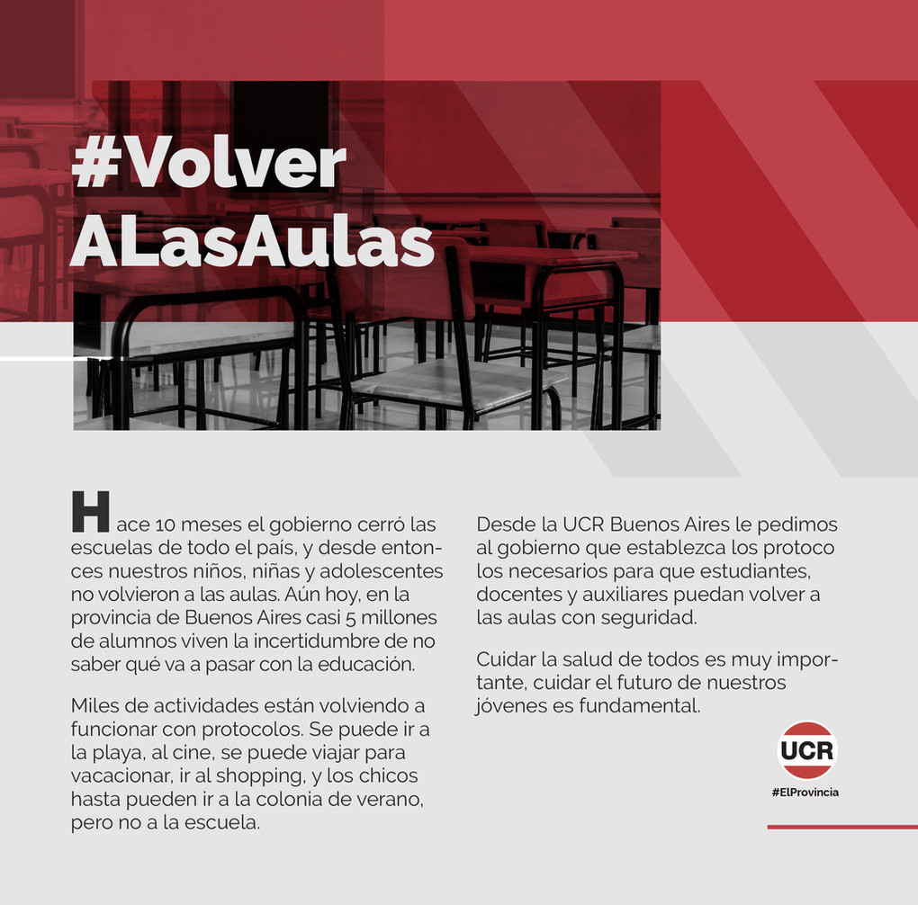 #VolverALasAulas