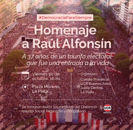 Homenaje a Raúl Alfonsín