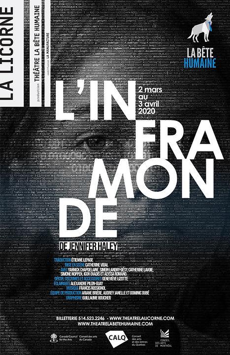 Affiche officielle de L'INFRAMONDE, Théâtre La Bête Humaine