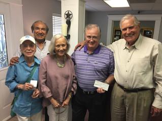 Eddie & Bette Robinson & Peg Farlow Donate $2K to Eastside Blossoms