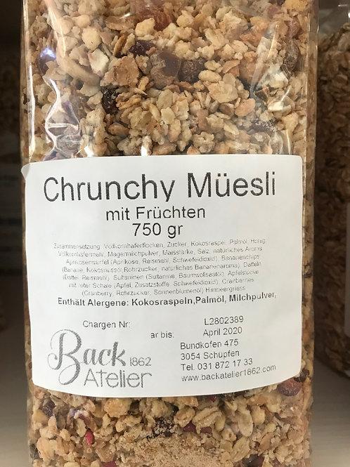 Crunchy Früchtemüesli