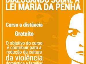 """Curso online """"Dialogando sobre a Lei Maria da Penha"""""""