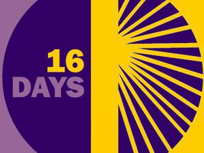 16 dias de ativismo pelo fim da violência contra a mulher.