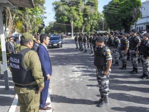 Carta ao Governador do Pará referente a marcha do pelotão de homens uniformizados