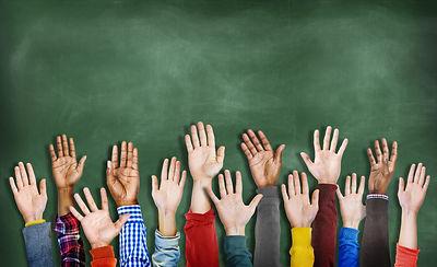 Group of Multiethnic Diverse Hands Raise