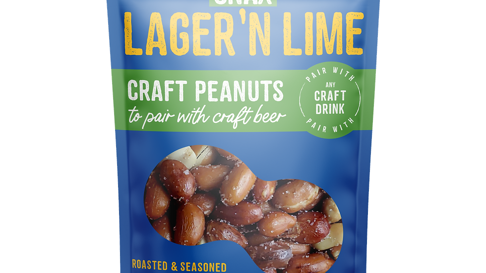 SIPPIN SNAX Lager N Lime Craft Peanuts