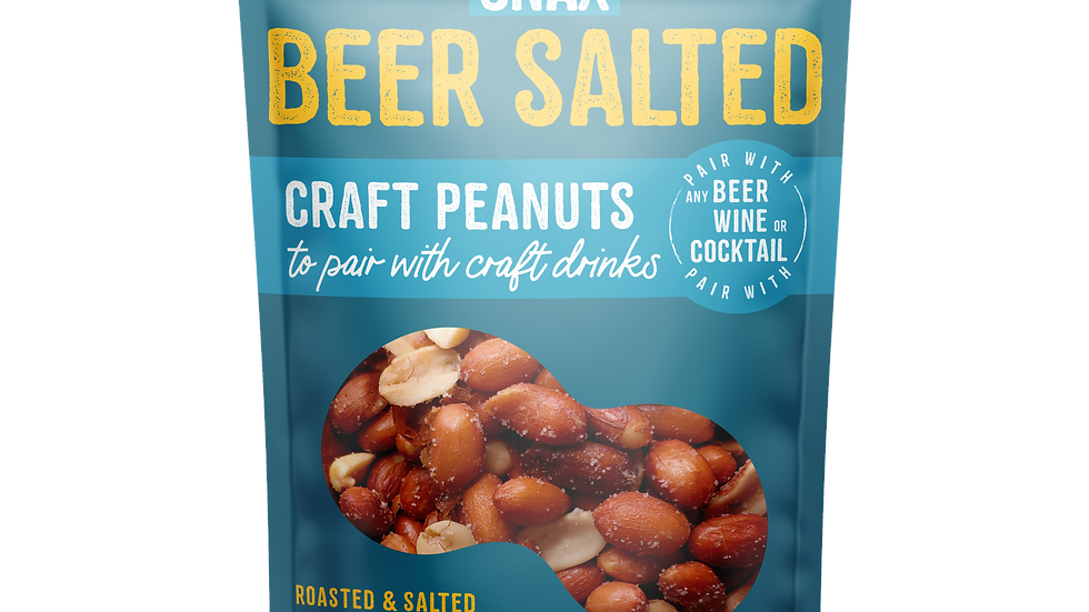 SIPPIN SNAX Beer Salted Craft Peanuts
