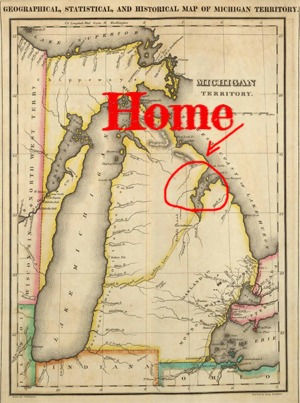Oldest Michigan Map