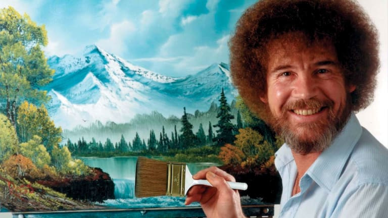 Bob Ross...how did you make an entire painting with a knife?????