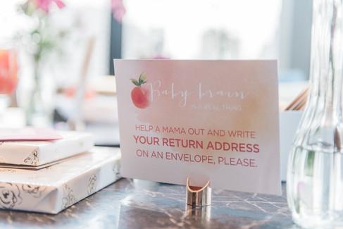 Baby shower address cards