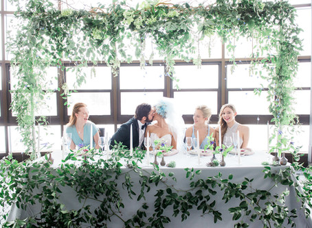 Modern Spring Wedding in Dusty Shades of Pink, Green & Blue