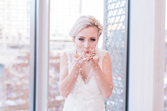 Glam bride style