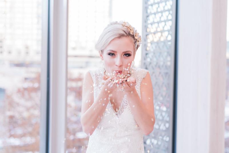 Glam bride style