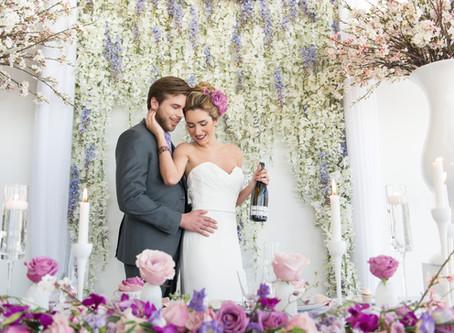 Pink and Fuschia Elegant Wedding Styled Shoot at Lago