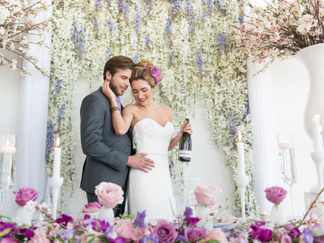 Pink and Fuschia Elegant Wedding Styled Shoot at Lago
