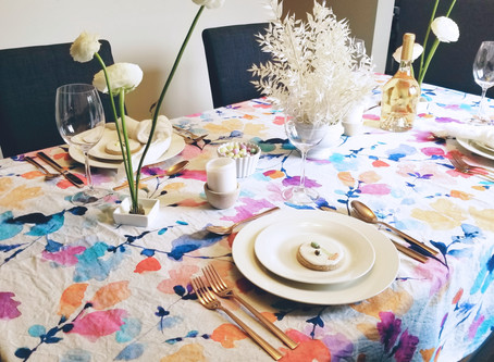 How to Style a Spring/Easter Tablescape
