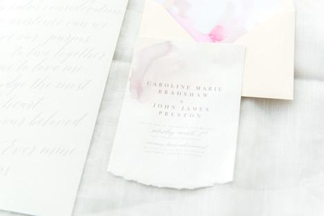 watercolour brushtroke wedding stationer