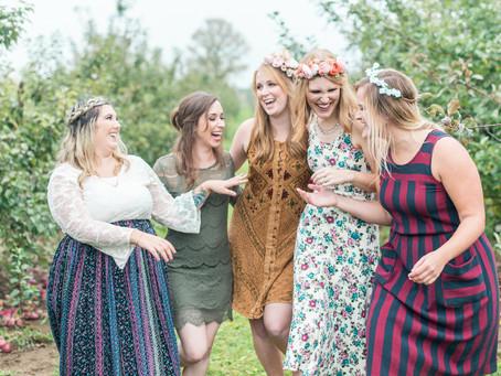 Outdoor Boho Bridal Brunch Bash in Apple Orchard