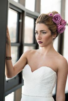 Spring wedding hair and makeup