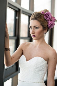 Spring wedding hair and makeup