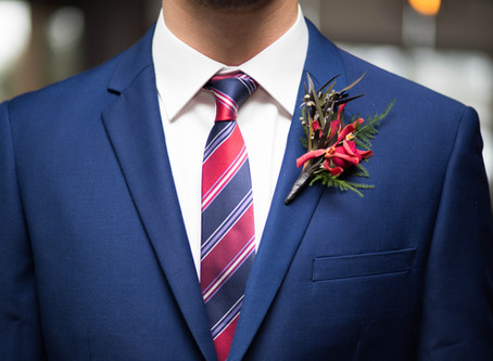The hottest trend in men's wedding attire has us blue all over!