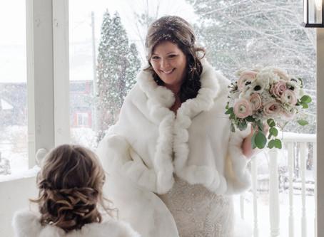 Blush Winter Wedding at Strathmere
