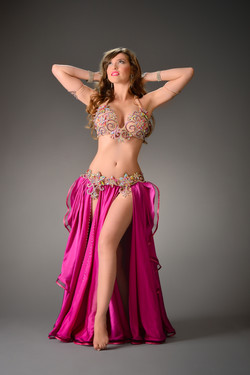 Camille Bellydance Photo Jamilah's Glamour Camp Pic by Marcin Lysak Makeup by Alicja Goleniec  Hair