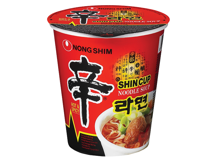 NongShim Shin Ramyeon Cup 68g (Spicy Instant Noodle)