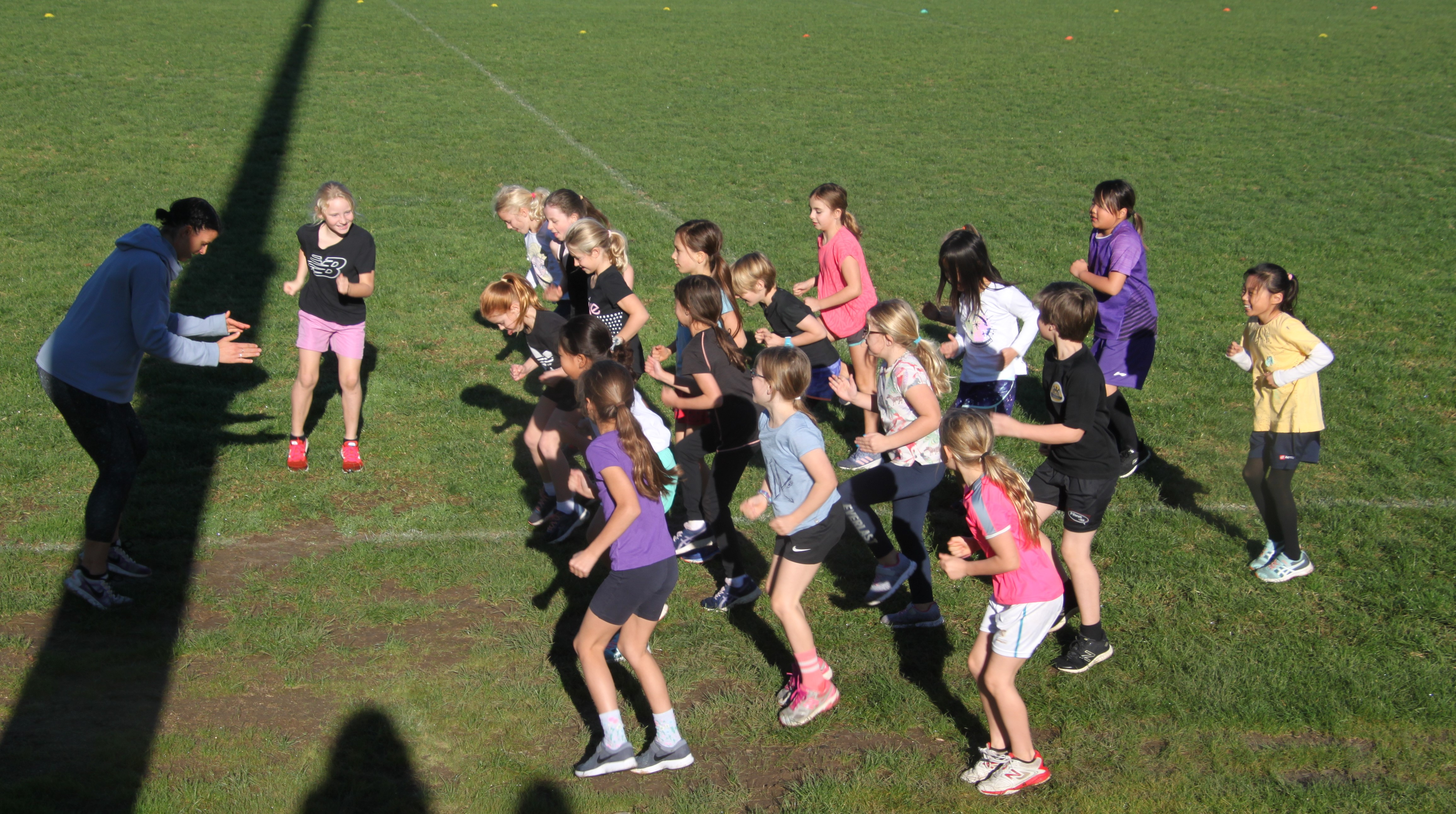 Year 4 Girls Challenge 4 warm up