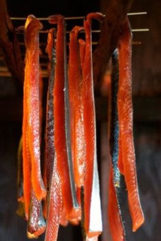 Alaska Native Style Smoked Salmon Strips