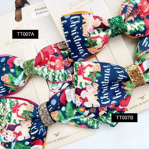 "Triplet Trilogy Bow | Christmas Bow Set | Midi & ""X"" Bow S"