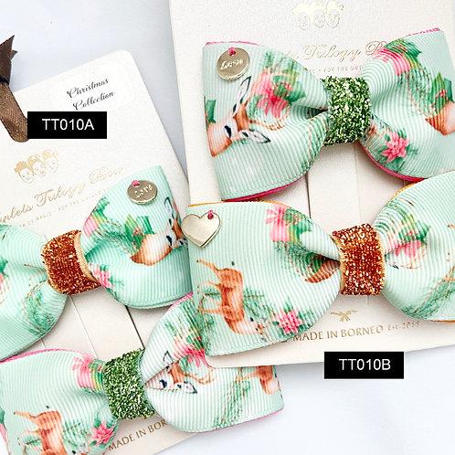 Triplet Trilogy Bow | Christmas Bow Set | Mini & Midi