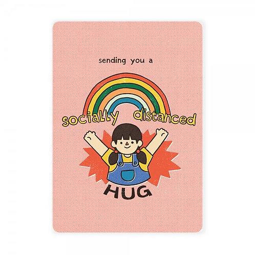 Loka Made | Postcard | MSP65 Sending You a Socially-Distanced Hug