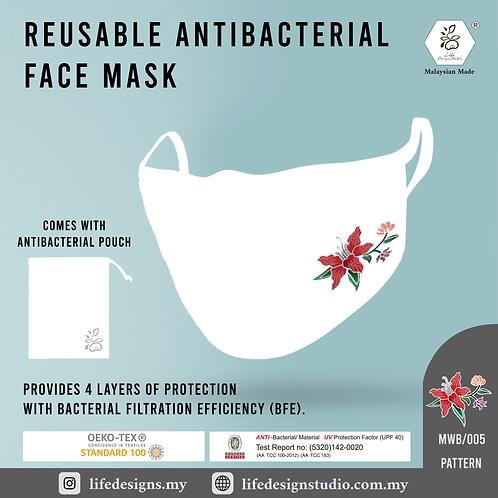 Life Design Studio   White Antibacterial Face Mask + Batik
