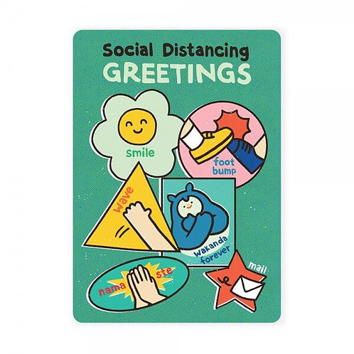 Loka Made | Postcard | MSP63 Social Distancing Greetings