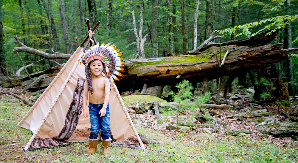 Happy Thanksgiving Native American Child Photoshoot