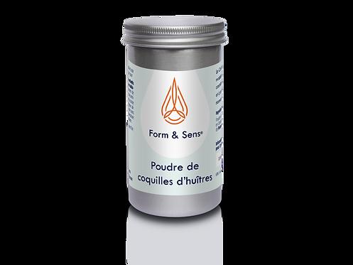 Poudre de coquilles d'huitres, complément alimentaire phare de Form & Sens. Rééquilibrage acido-basique. Naturel et bio.