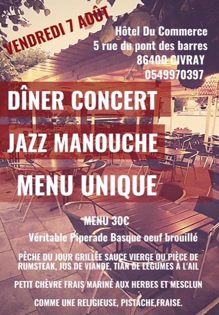Soirée jazz manouche - Hôtel du Commerce
