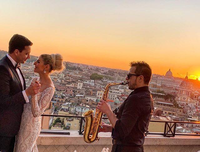 wonderful wedding in Rome. It was a plea
