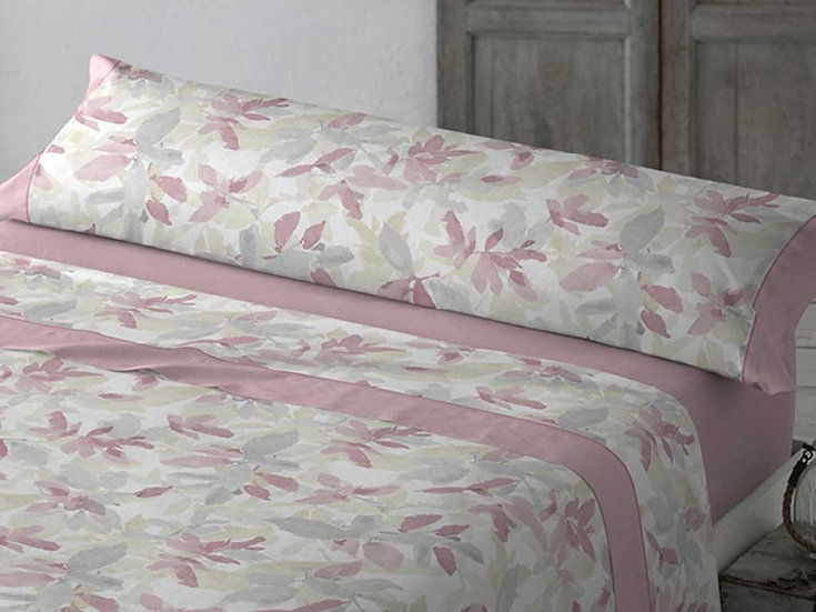 J. Sábanas Flores Rosa