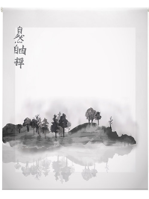 Estor Digital Zen Dibujo Blanco y Negro